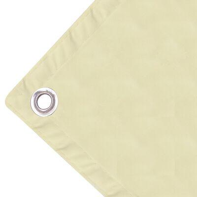 vidaXL Toldo para balcón tela oxford 90x600 cm crema