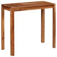 vidaXL Mesa de bar de madera maciza de sheesham 115x55x107 cm