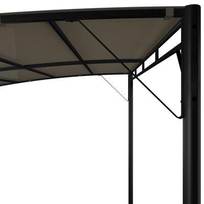 vidaXL Toldo parasol de jardín gris taupe 3x3x2,55 m