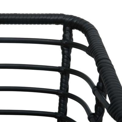 vidaXL Sillas de jardín 2 unidades con cojines ratán sintético negro