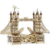 Mr. PlayWood Kit de maqueta de madera del Tower Bridge 312 piezas