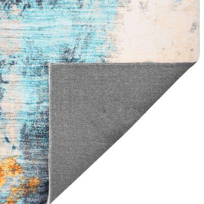 vidaXL Alfombra estampada poliéster multicolor 80x150 cm