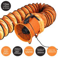 MaxBlast 250mm / 300mm Dust Extractor with 6m or 12m Duct