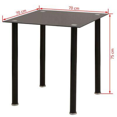vidaXL Conjunto de mesas y sillas de comedor de cinco piezas negro