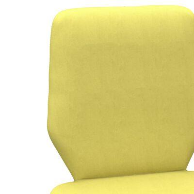 vidaXL Sillas de comedor 2 unidades tela amarillo lima