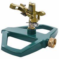 vidaXL Aspersor giratorio metal verde 21x22x13 cm
