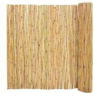 vidaXL Valla de jardín de bambú 300x150 cm