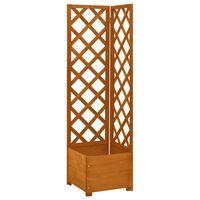 vidaXL Jardinera enrejada de esquina madera abeto naranja 40x40x150 cm