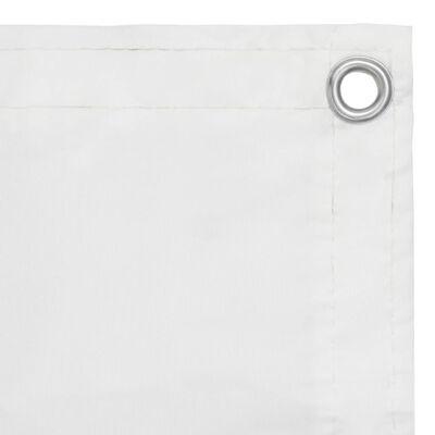 vidaXL Toldo para balcón tela oxford blanco 90x500 cm