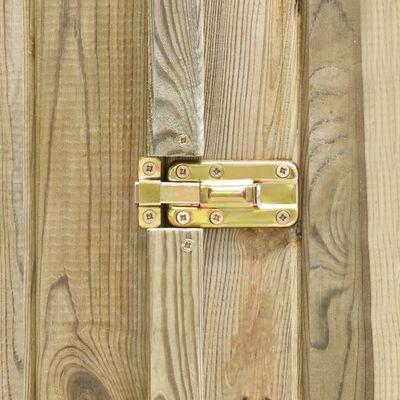 vidaXL Caseta herramientas jardín madera pino impregnada 123x50x171 cm