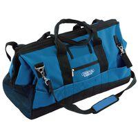Draper Tools Bolsa herramientas contratistas azul negro 63x28x35cm 60L
