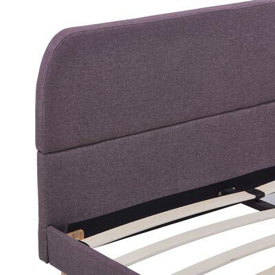vidaXL Estructura de cama de tela gris topo 140x200 cm
