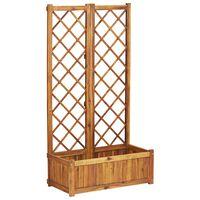 vidaXL Arriate con enrejado madera maciza de acacia 80x38x150 cm