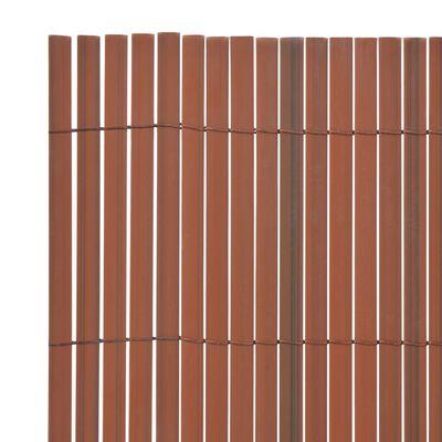 vidaXL Valla de jardín de doble cara marrón PVC 90x300 cm