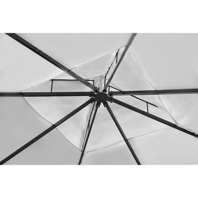 vidaXL Cenador con techo 3x4 m blanco crema