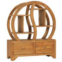 vidaXL Armario con estante Yin Yang madera maciza de teca 68x26x83 cm