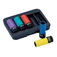 BAHCO Set de 5 piezas de tubos de impacto 17/19/21/22/24 mm BWSS12P5