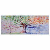 vidaXL Set de lona para pared árbol de lluvia multicolor 200x80 cm
