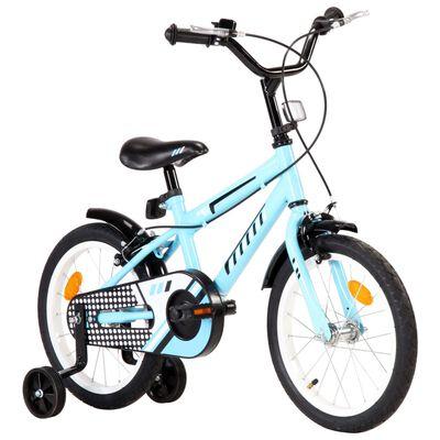 vidaXL Bicicleta para niños 16 pulgadas negro y azul