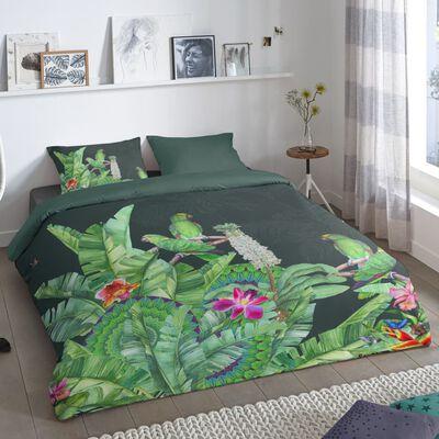 Good Morning Funda de edredón CATO verde 135x200 cm
