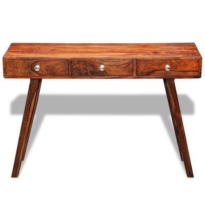 vidaXL Mesa consola con 3 cajones madera maciza sheesham 76 cm