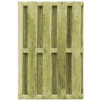 vidaXL Puerta de valla madera de pino impregnada verde 100x150 cm