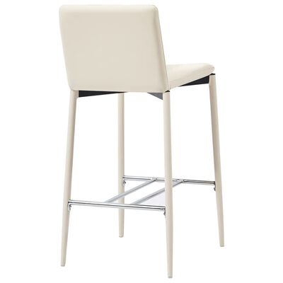 vidaXL Juego de mesa alta y taburetes 5 piezas cuero sintético crema
