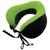 Travelsafe Almohada cervical plegable viscoelástica verde y negra