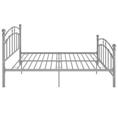 vidaXL Estructura de cama de metal gris 200x200 cm