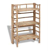 Estantería de bambú con 3 niveles para plantas