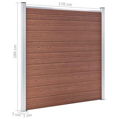 vidaXL Valla de jardín de WPC marrón 699x186 cm