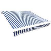 vidaXL Toldo de lona azul y blanco 500x300 cm