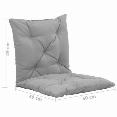 vidaXL Cojines para balancín 2 unidades gris 50 cm