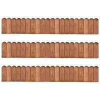vidaXL Rollos de borde jardín 3 uds madera de pino impregnada 120 cm