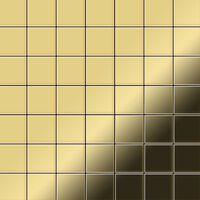 ALLOY Attica-BM Mosaico de metal sólido Latón oro