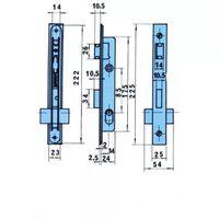 Cerradura Embutir Metalica - LINCE - 5550/AA-14