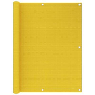 vidaXL Toldo para balcón HDPE amarillo 120x500 cm