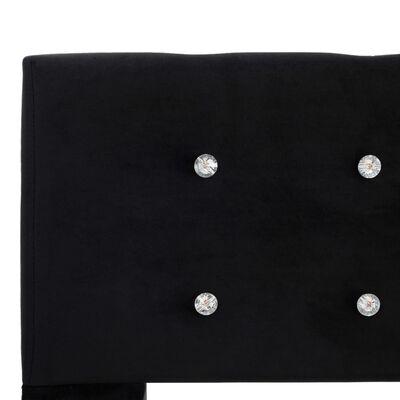 vidaXL Estructura de cama de terciopelo negra 90x200 cm