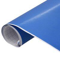 vidaXL Lámina para coches azul mate 4D 200x152 cm