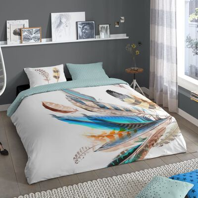 Good Morning Funda de edredón FEATHER 140x200/220 cm multicolor