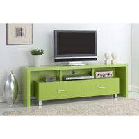 Mesa De Televisión 2 Cajones Verde
