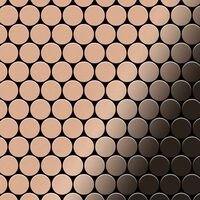 ALLOY Dollar-CM Mosaico de metal sólido Cobre cobre