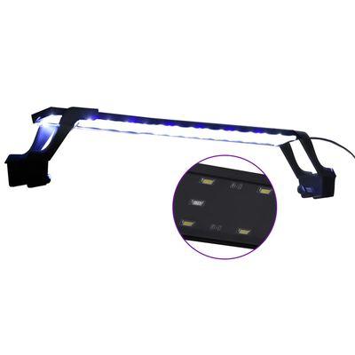 vidaXL Luz LED para acuario con abrazaderas azul y blanco 55-70 cm