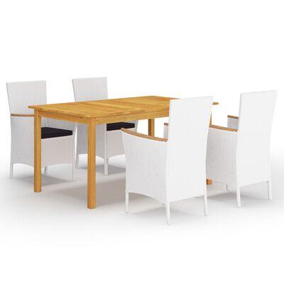 vidaXL Juego de comedor para jardín 5 piezas