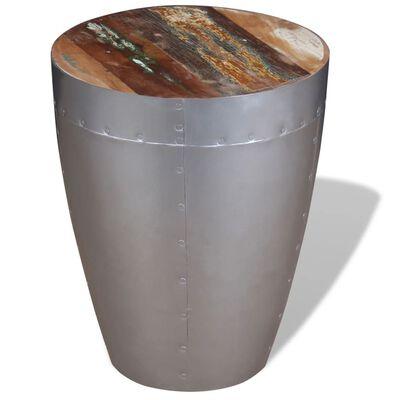 vidaXL Taburete aviador madera maciza reciclada