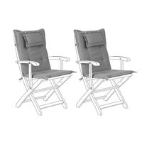 Conjunto de 2 cojines para silla de jardín gris MAUI