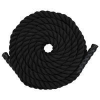 vidaXL Cuerda ondulatoria de poliéster 12 m negro