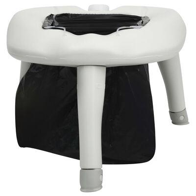 vidaXL Inodoro de camping con bolsas 200 kg