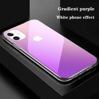 Funda para iPhone 11- transparente / violeta