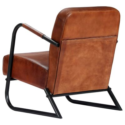 vidaXL Sillón relax de cuero auténtico marrón